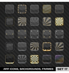 Set Of App Icon Frames Templates Backgrounds vector image vector image