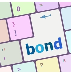 bond button on computer pc keyboard key vector image