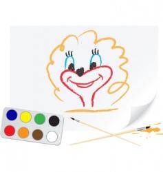 drawing girl vector image vector image