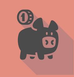 piggy bank icon vector image