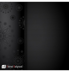 Realistic dark carbon background vector image