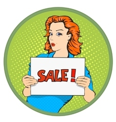 Woman sale banner vector image