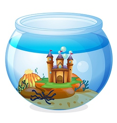 A castle inside the jar vector