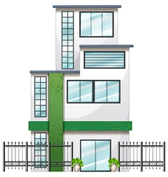 A newly built tall building vector image
