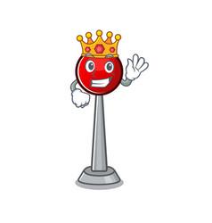 A stunning antenna stylized king on cartoon vector