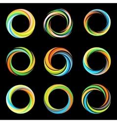 Abstract colorful collection logos hurricane vector