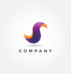 Abstract colorful dynamic fluid letter s logo vector