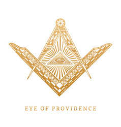 All-seeing eye of providence masonic square and vector