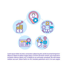 Appear in quick answers concept line icons vector