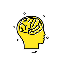 artificial brain intelligence vector image