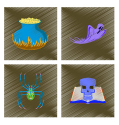 Assembly flat shading style icon ghost potion vector