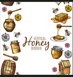 border of honey vector image