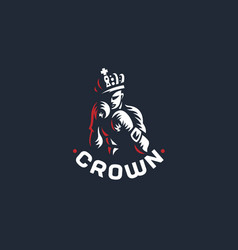 boxer in crown vector image
