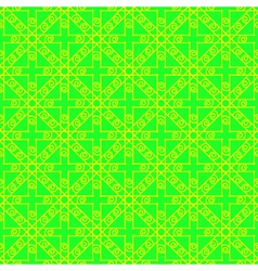 Bright green and yellow geometric seamless pattern vector
