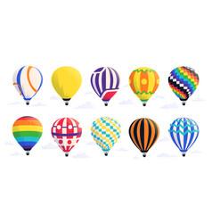 cartoon air balloons hot airship with baskets and vector image