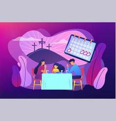 Christian event concept vector