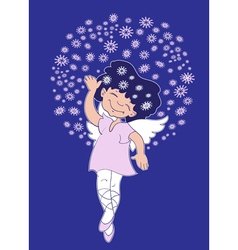 Christmas angel girl vector