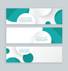 clean business style banners set of three template vector image