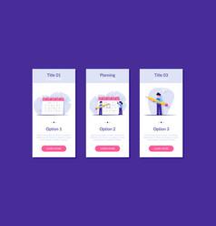 concept planning tasks for week month vector image