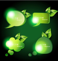 eco chat bubbles vector image
