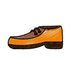 Elegant shoes icon vector