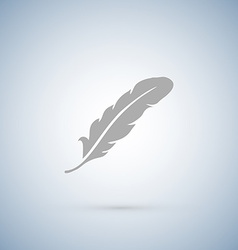 Feather icons isolated on white vector