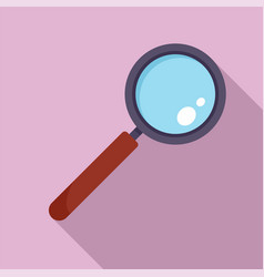 find solution magnify glass icon flat style vector image