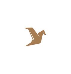Flying bird logo design template vector