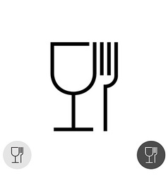 Fork and glass vector image