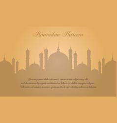 Greeting card of ramadan kareem style vector