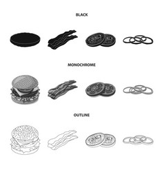 isolated object of burger and sandwich symbol vector image