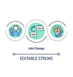 Job change concept icon vector