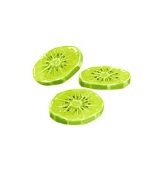 Kiwi dried fruits dry food candied sweet desserts vector