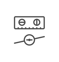 level tool line outline icon vector image