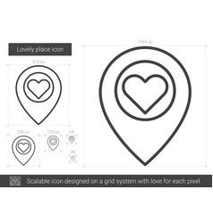 Lovely place line icon vector