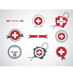 Made in Switzerland - set of seals badges vector image