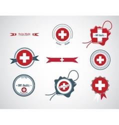 made in switzerland - set seals badges vector image