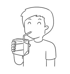 man drinking vector image