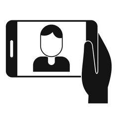 man take a selfie phone icon simple style vector image