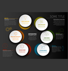 minimalist colorful infographic template vector image