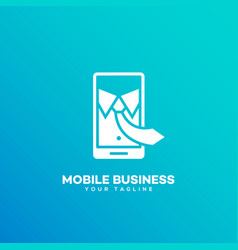 mobile business logo vector image