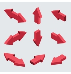 moders set of isometric arrows vector image