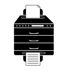 Multifunction printer icon simple style vector