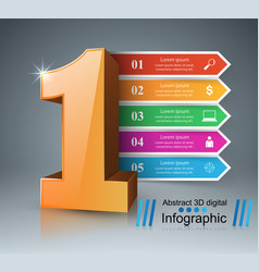 One business infographics origami style vector