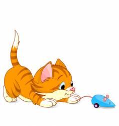 Playful kitten vector