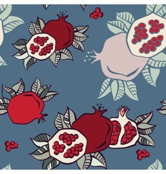 pomegranate seamless background vector image
