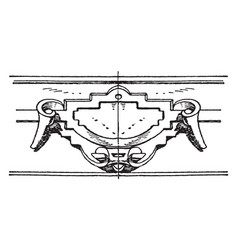 Renaissance strap-work frame was an invention of vector