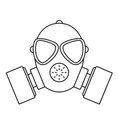 respirator icon outline style vector image