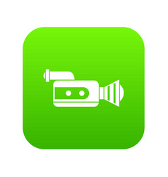 retro camera icon digital green vector image
