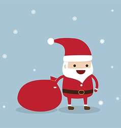 Santa claus with snowflake vector image